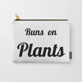 Runs On Plants Vegan Print Carry-All Pouch
