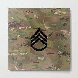 Staff Sergeant (Camo) Metal Print