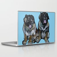 simba Laptop & iPad Skins featuring Simba and Snuffaluffagus the Leonbergers by Pawblo Picasso