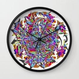 Neon Waffle Monster 12 Wall Clock