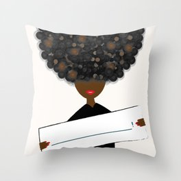 INSERT YOUR VOICE HERE Throw Pillow