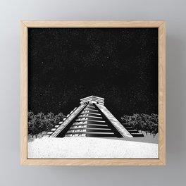 Chichen Itza pyramid Framed Mini Art Print