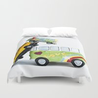 cars Duvet Covers featuring cars by Esjaybee