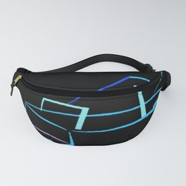 Blue Abstract Grand Piano Fanny Pack