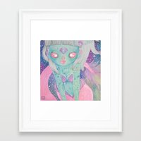 loll3 Framed Art Prints featuring Mermaid by lOll3