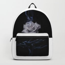 White rose, love and birds Backpack