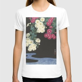 Chrysanthemums and Running Water T-shirt