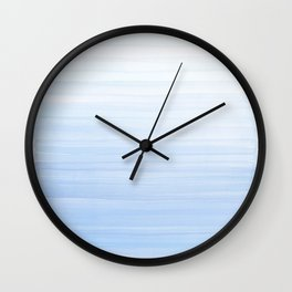 Pastel Blue Strokes Wall Clock
