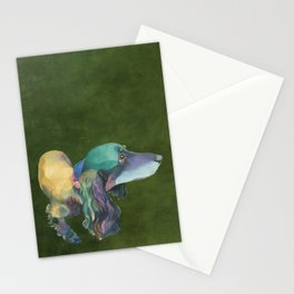 Longhaired Dachshund Stationery Cards