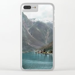 Village by the Lake & Mountains Clear iPhone Case