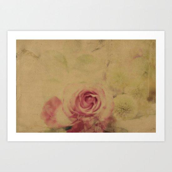 Victorian Flowers Art Print