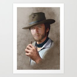 Man with no name ( Clint Eastwood ) Art Print