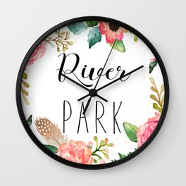 River Park - Sacramento cushion Wall Clock