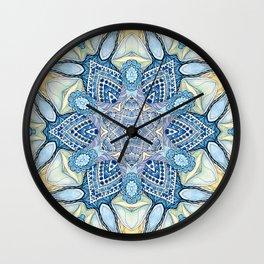 Blu star mandala Wall Clock