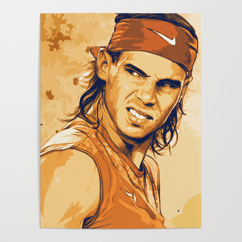 Rafael Nadal Poster By Designhut Society6