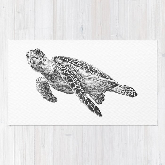 Sea Turtle Rug By Laurahines