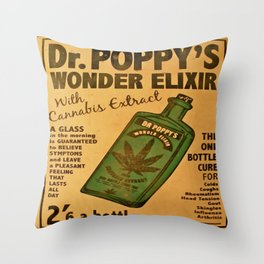 Vintage poster - Dr. Poppy's Wonder Elixir Throw Pillow