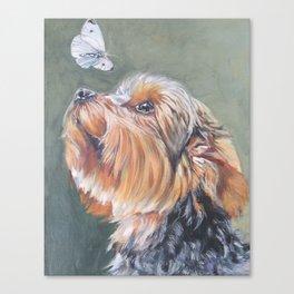 A realistic Yorkshire Terrier Portrait by L.A.Shepard fine art painting Canvas Print