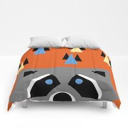 Orange Racoon Comforters