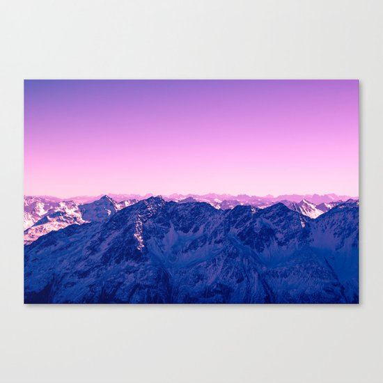 Pink Mountains #society6 #photography Canvas Print