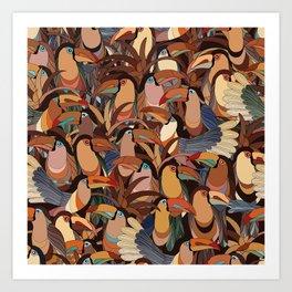 Brazilian toucans Art Print