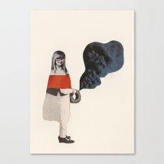Mysterious Girl Canvas Print