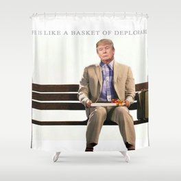 Forrest Gump Parody Of Donald Trump Shower Curtain