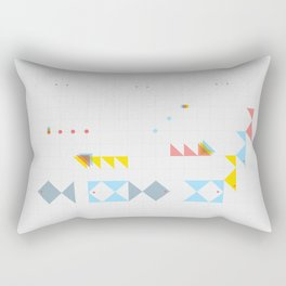 triangle fish Rectangular Pillow