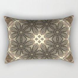 Victorian Art Deco Medieval Pattern light brown SB23 Rectangular Pillow