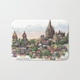 Sunset over San Miguel de Allende Bath Mat