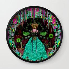 Lady Pandas Comfort Zone in Zen Wall Clock