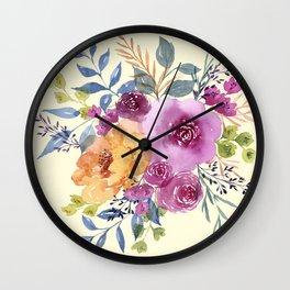 expressive bouquet Wall Clock