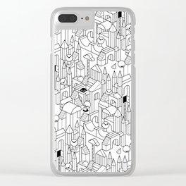 Little Escher's Building Blocks Clear iPhone Case