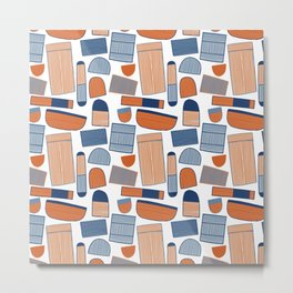 Pattern Project #39 / Stripy Things Metal Print