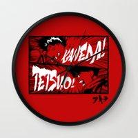 akira Wall Clocks featuring Akira! by Demonigote
