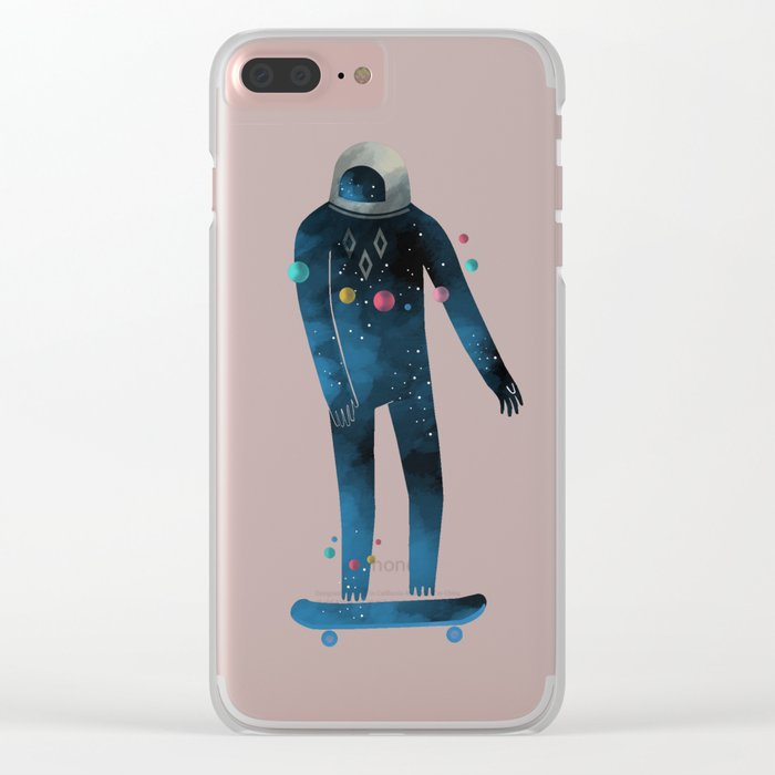 Skate/Space Clear iPhone Case