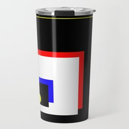 Traffic Jam - Abstract, minimalist, geometric, artwork in primary colours and black and white Travel Mug