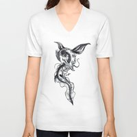 hydra V-neck T-shirts featuring Hydra by STiCK MONSTER iNK