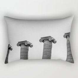 The Four Columns of Barcelona in Black and White Rectangular Pillow