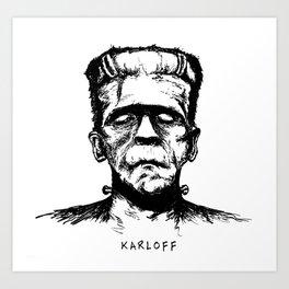 Karloff's Monster Art Print
