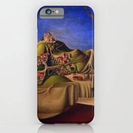 'The Dream of the Malinche' magical realism dream portrait painting by Antonio Ruiz iPhone Case