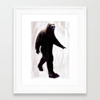 bigfoot Framed Art Prints featuring Bigfoot by Zombie Rust