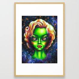 Iconic Alien Women: Marilyn Framed Art Print