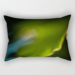 Blue Green Macro Leaf Rectangular Pillow