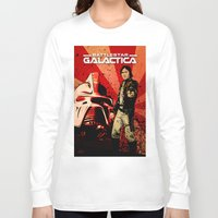 battlestar Long Sleeve T-shirts featuring Battlestar Galactica by Storm Media