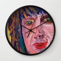 michael scott Wall Clocks featuring Michael by Paul Kimble