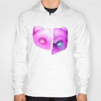 mew Hoodies featuring Mew Or Mewtwo? by Kapika Arts