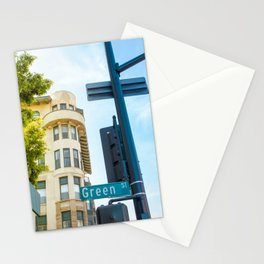 Street photography Green street Stationery Cards