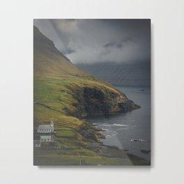 Northern Seaside Church Metal Print