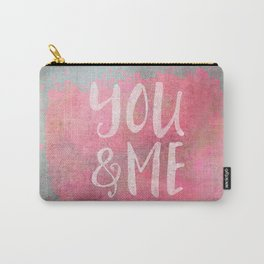 You and me Love typography Carry-All Pouch